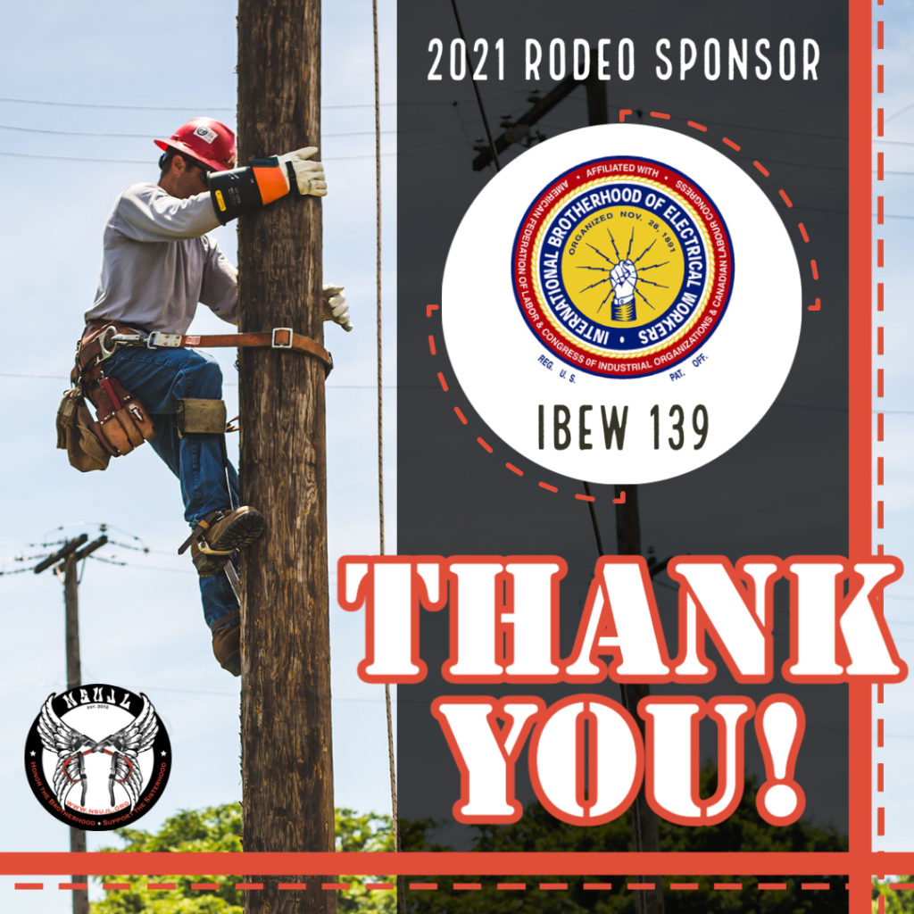 Rodeo Sponsors 2021 - IBEW 139